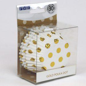 Muffinivuoat kultainen polka dot