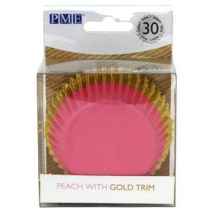 Muffinivuoat roosa kultareunuksella