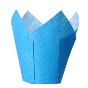 Tulppaanivuoat muffineille sininen
