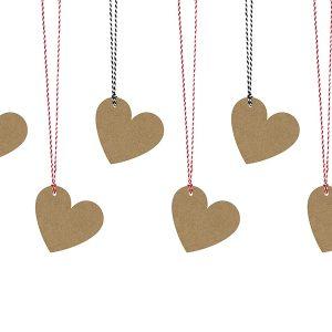 Sydänkortit pahvi