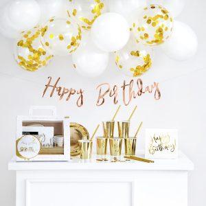 Happy Birthday kullanhohtoinen syntymäpäiväpaketti
