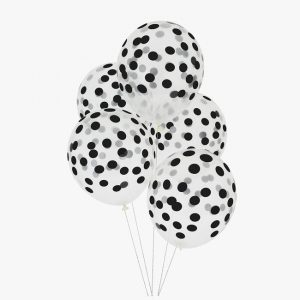 Musta polka dot ilmapallot
