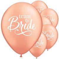 Team Bride ruusukultaiset ilmapallot