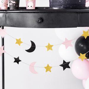 Koristenauha kuu ja tähdet