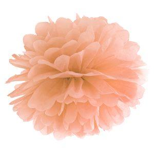Pompom vaalea persikka 35 cm