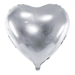Foliopallo sydän hopea