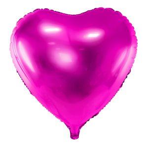 Foliopallo sydän pinkki