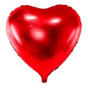 Foliopallo sydän punainen