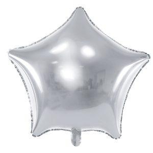 Foliopallo tähti hopea