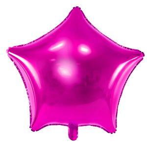 Foliopallo tähti pinkki