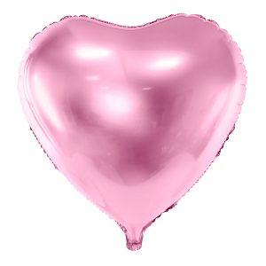 Foliopallo vaaleanpunainen sydän