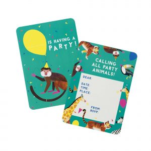 Party Animals kutsukortit