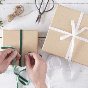 Paketointinarut vihreä, valkoinen, juutti