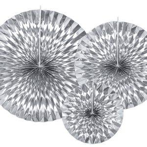 Paperiviuhkat hopea