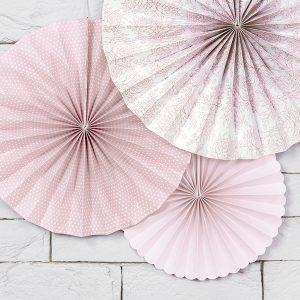 Paperiviuhkat roosa mix
