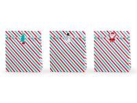 Raidalliset paperipussit jouluun