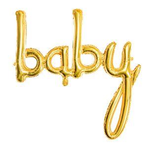 baby kullanvärinen foliopallo