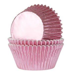 Minimuffinivuoat vaaleanpunainen