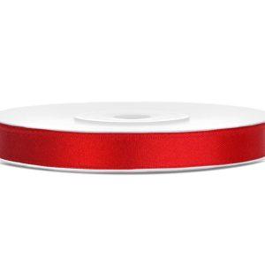 Punainen satiininauha 6 mm