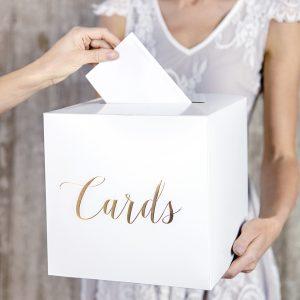 Cards korttilaatikko kultatekstillä