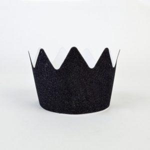Glitterkruunu musta