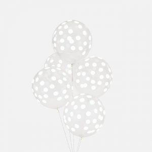 Ilmapallot valkoisilla pilkuilla