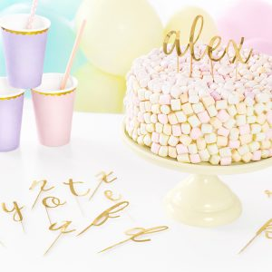 Kakkukoristekirjaimet kulta
