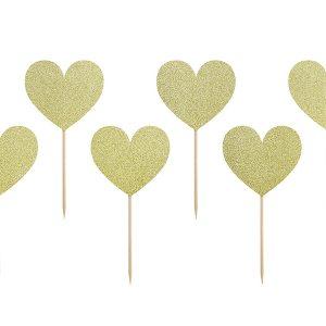 Kultaglitter herkkutikut sydän