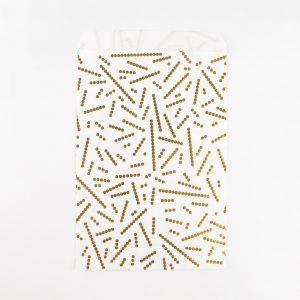 Paperipussit kultahelmillä