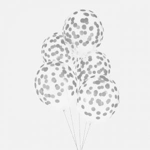 Polka dot ilmapallot hopea