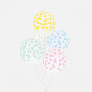 Polka dot ilmapallot pastelli mix