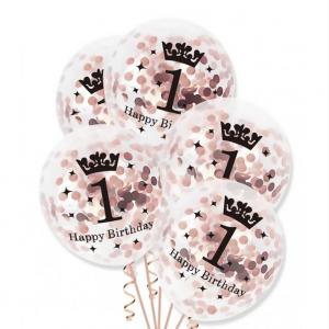 1-vuotis konfettipallot