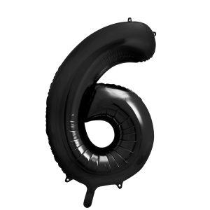 Iso numerofoliopallo 6 musta