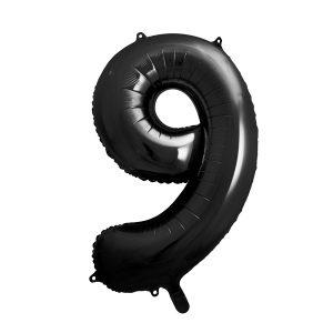 Iso numerofoliopallo 9 musta