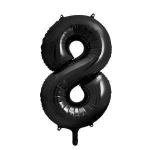 Iso numerofoliopallo musta 8