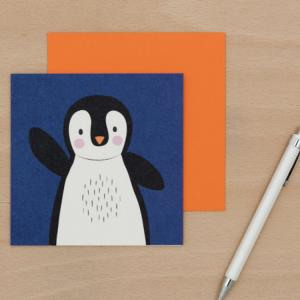 Onnittelukortti pingviini