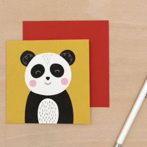 Onnittelukortti panda