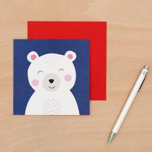 Onnittelukortti jääkarhu