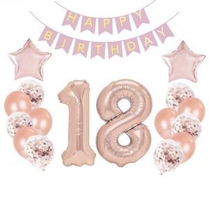 18-vuotisjuhlien koristepaketti