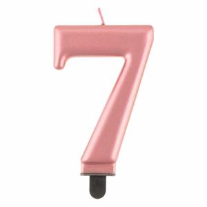Kakkukynttilä nro 7 ruusukulta