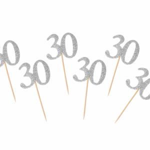 Kuppikakkukoristeet 30 hopea