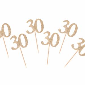 Kuppikakkukoristeet 30 kultaglitter