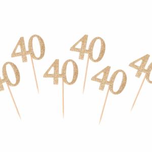 Kuppikakkukoristeet 40 kultaglitter