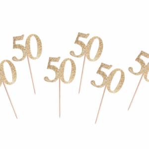Kuppikakkukoristeet 50 kultaglitter