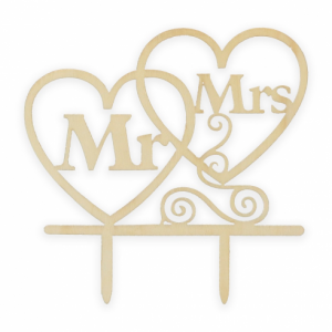Mr and Mrs puinen kakkukoriste