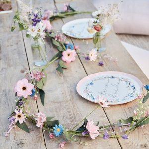 BOHO Bride kukkaköynnös pastelli