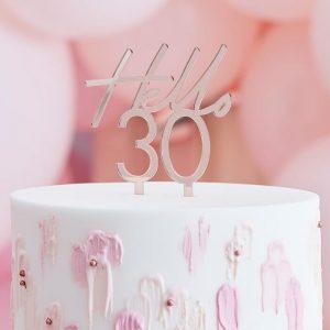 Hello 30 kakkukoriste ruusukulta