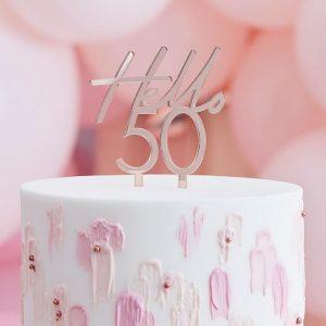 Kakkukoriste Hello 50 ruusukulta