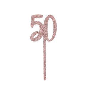 Kakkukoriste 50, ruusukulta