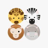Pahvilautaset safarin eläimet